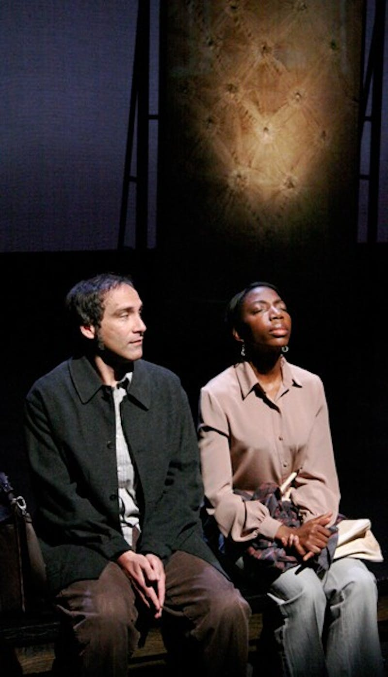 "Garth Petal and Joy Jones portray Simon and Juliettea ""...a Young Lady from Rwanda."" Courtesy of Connie Mahan"