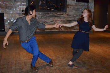Jonathan Ng and Gillian Fortier, the founders of Prohibition Night, also teach swing dancing at the Prohibition Night events. Photo courtesy of Gillian Fortier.