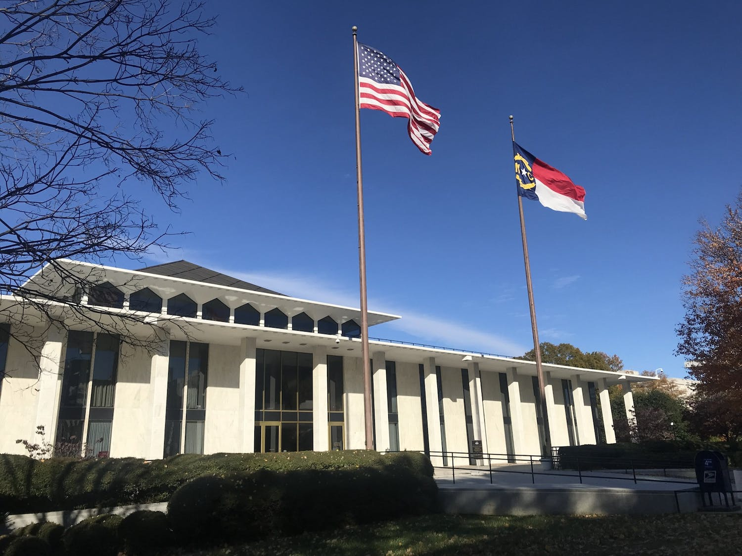 The North Carolina General Assembly is located in Downtown Raleigh and houses the state Senate and House of Representatives.