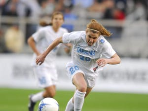 Heather O'Reilly during the 2006 College Cup. Photo courtesy of UNC Athletics