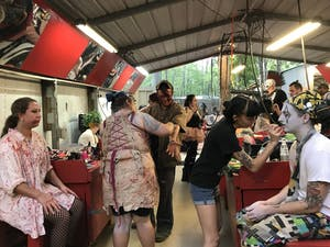 The Woods of Terror in Greensboro has a staff of 75 makeup artists and 100 performers.