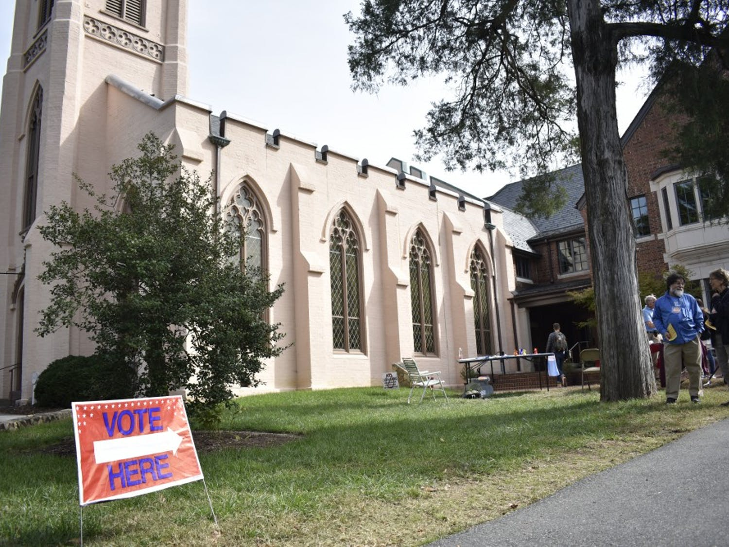 he Chapel of the Cross church at 304 E. Franklin St. on Oct. 23, 2018. The Chapel of the Cross severs as an early voter location close to the University of North Carolina at Chapel Hill's campus.