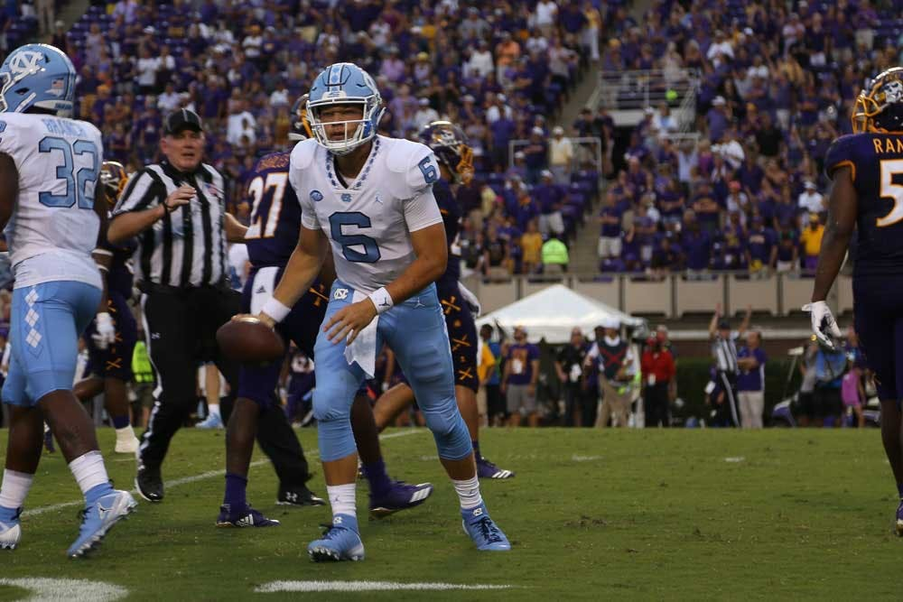 UNC first-year quarterback Cade Fortin earns high praise from teammates, Larry Fedora