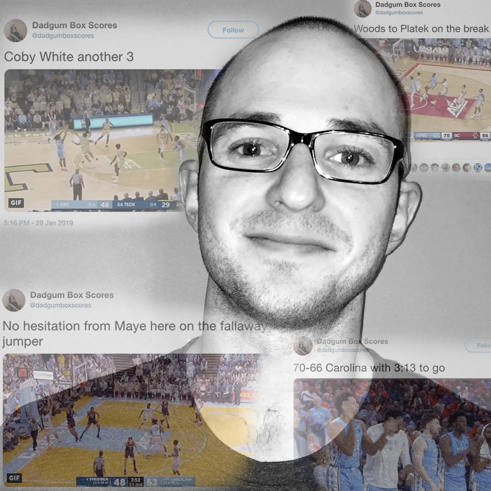 Meet the man behind Dadgum Box Scores, one of UNC basketball's top Twitter accounts