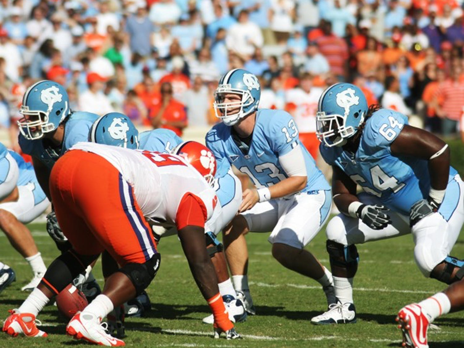 Quarterback T.J. Yates will rely heavily on his offensive line to protect him Saturday from a Miami defense that averages 3.3 sacks a game.