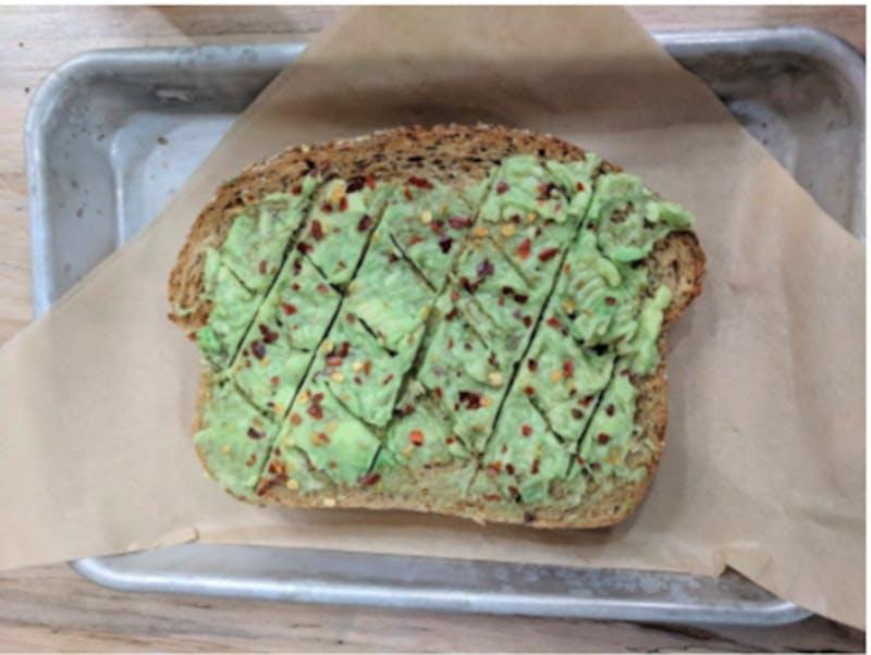 Photo of Tama Tea's avocado toast.