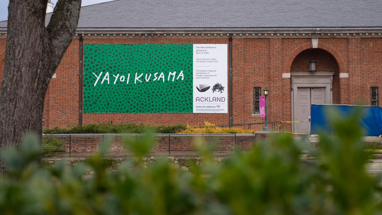 The Ackland Art Museum stands with its entrance blocked on Tuesday, Jan. 19, 2021.