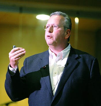 Joseph Desimone speaks at the TEDxUNC conference in early 2012.