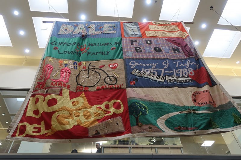 Jeremy Trefney's section of the AIDS Memorial Quilt was hanged in the Student Union on Friday afternoon.