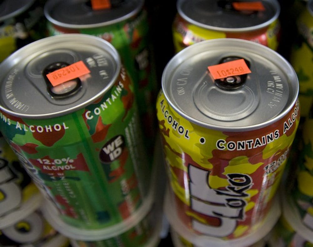 These cans of Four Loko are still being sold at TJ's Beverage and Tobacco. Since threat of a ban, sales of the beverage have increased.