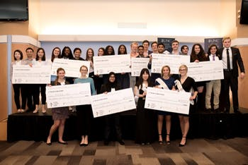 The winners of last year's Pitch Party. Photo courtesy of the Entrepreneurship Center.