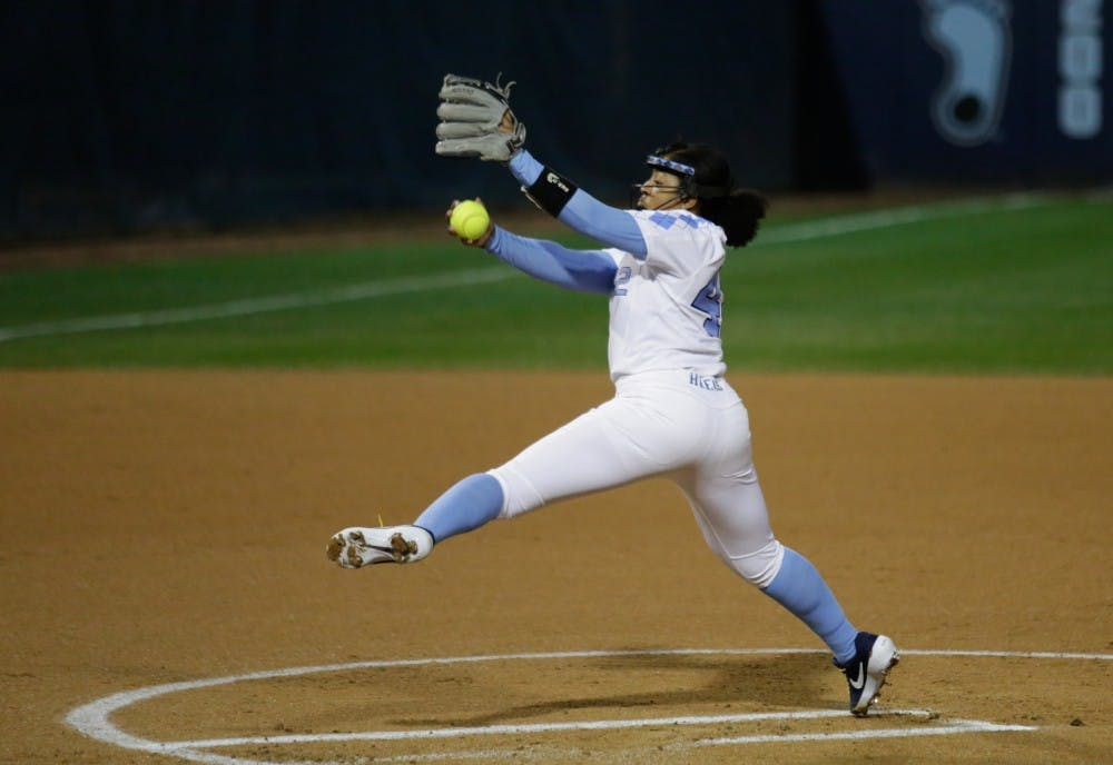 George and Pickett help UNC softball pick up two ranked wins in wet weekend
