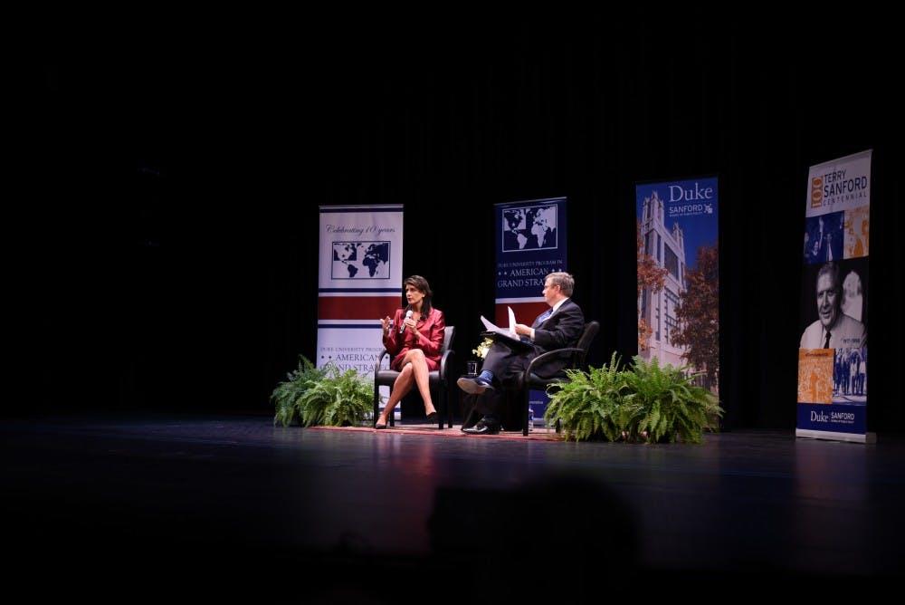 Nikki Haley addresses global governance in talk at Duke
