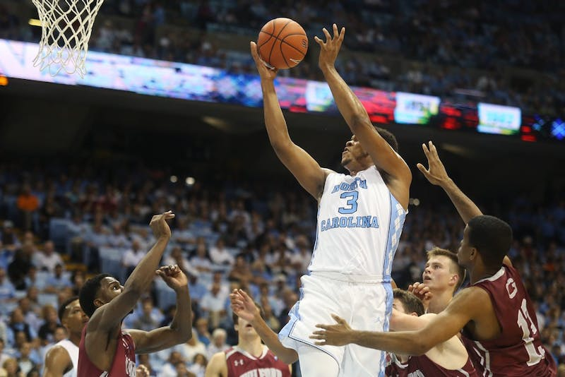 Junior forward Kennedy Meeks (3) goes up for a shot. Meeks scored 14 points.