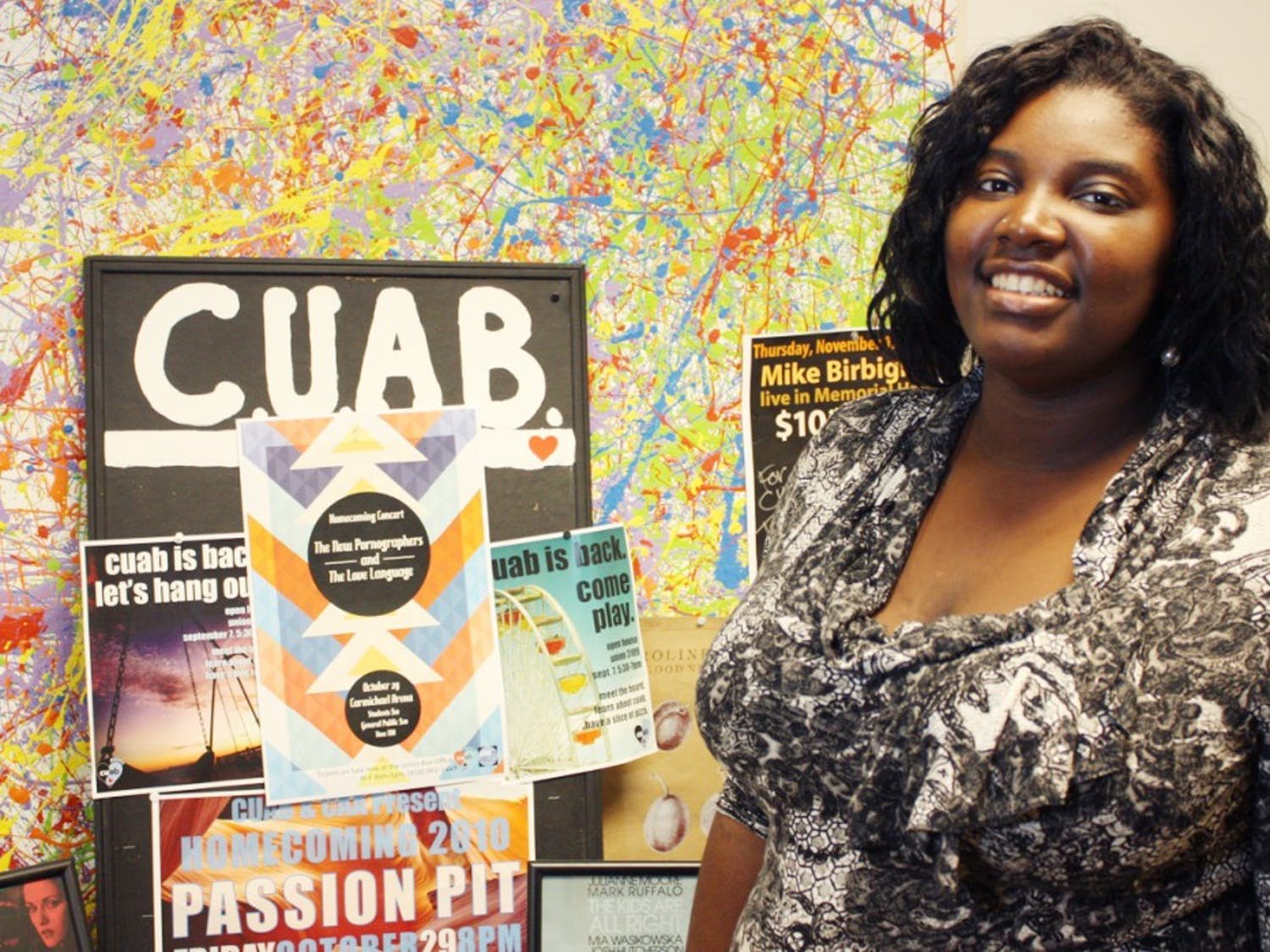 The President of the Carolina Union Activities Board, Cierra Hinton, made efforts to improve homecoming this fall.