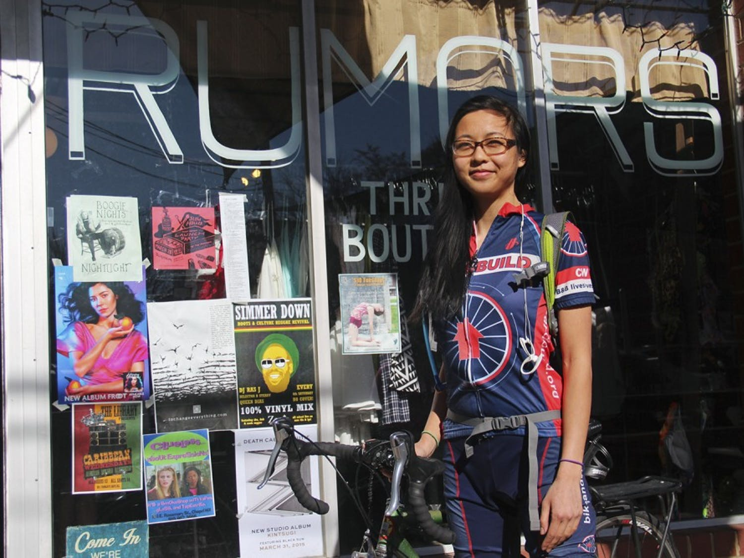 UNC student Alicia Chen will be holding a benefit night at Rumors on Wednesday in order to raise money for her Bike & Build trip. Chen hopes a portion of the money raised will go back to the Carrboro community.