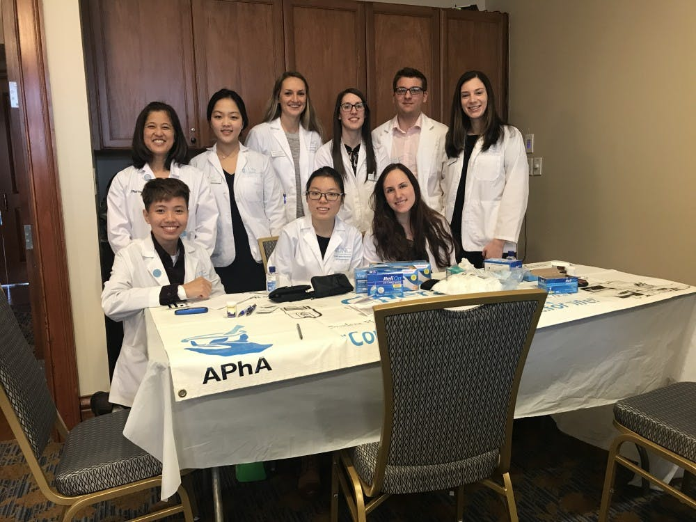 <p>UNC student pharmacists are celebrating American Pharmacists Month, which falls in October. Photo courtesy of Megan Byrne.&nbsp;</p>