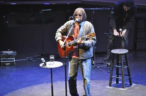 Milton Nascimento, the influential Brazilian singer-songwriter known for fusing Africanized jazz with Latin-American folk, performed at Memorial Hall on Saturday night.