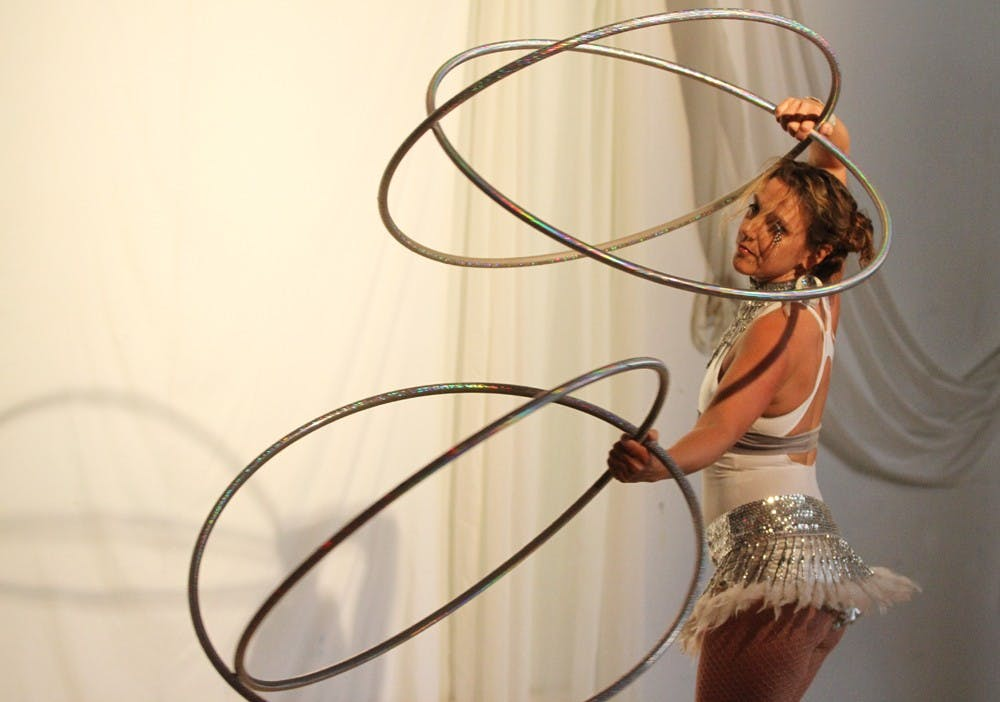 Carrboro flow artists use hooping to feel at home in their bodies