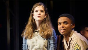 Presyce Baez (in the role of Flick) performs opposite Ainsley Seiger, who plays Violet.