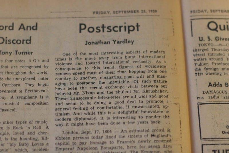 Postscript Jonathan Yardley