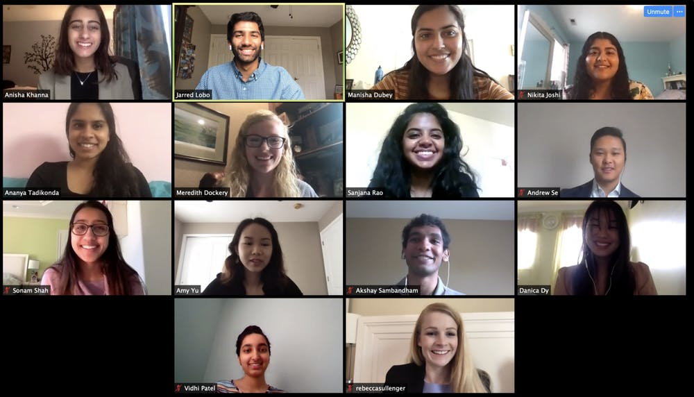 """<p>UNC's chapter of the American Mock World Health Organization held its conference over Zoom on Saturday, April 18, 2020. """"People were definitely very receptive and we actually had more international registrants for this virtual platform than we did for our actual conference,"""" Anisha Khanna, UNC AMWHO internal co-director and chapter director for AMWHO Inc., said. Photo courtesy of Meredith Dockery.&nbsp;</p>"""