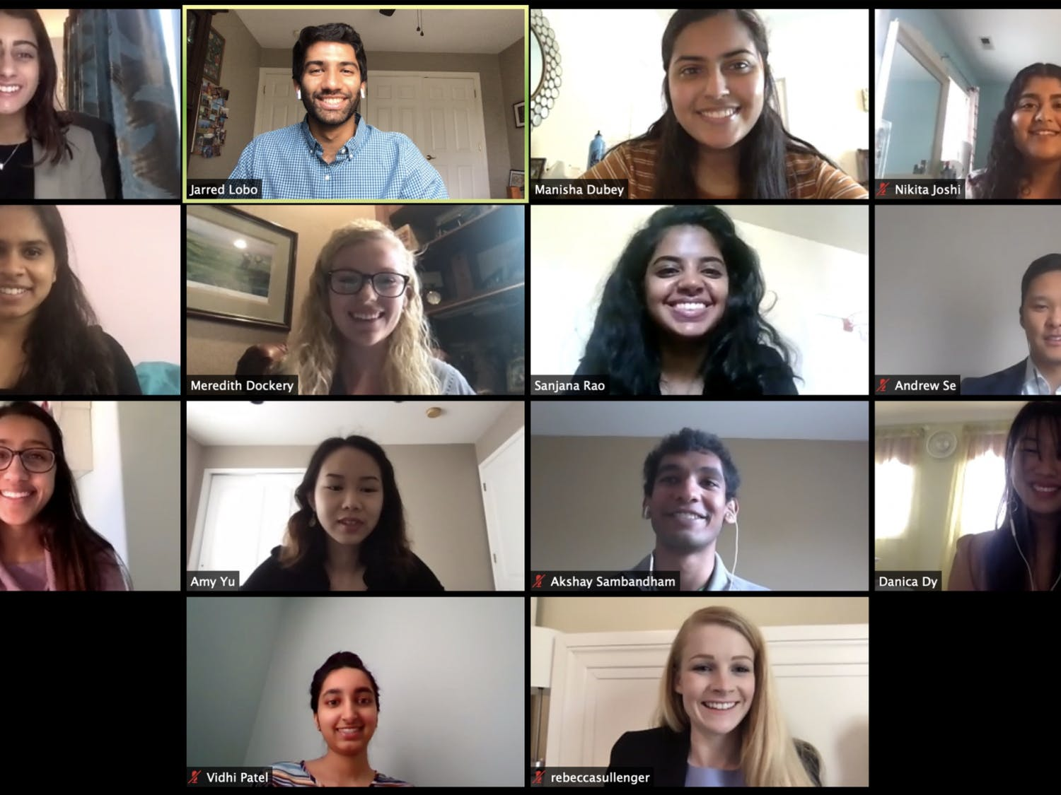 """UNC's chapter of the American Mock World Health Organization held its conference over Zoom on Saturday, April 18, 2020. """"People were definitely very receptive and we actually had more international registrants for this virtual platform than we did for our actual conference,"""" Anisha Khanna, UNC AMWHO internal co-director and chapter director for AMWHO Inc., said. Photo courtesy of Meredith Dockery."""