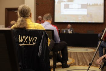 WXYC and WCAR alumni held a reunion in the Carrboro Hampton Inn & Suites Saturday.
