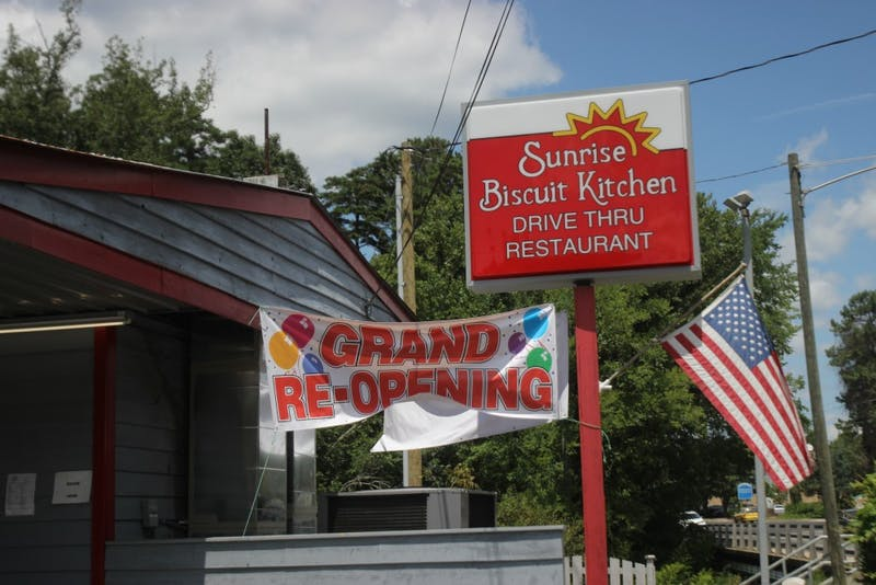 Sunrise Biscuit Kitchen reopened on Wednesday July 24, 2019 after a fire earlier in the summer.