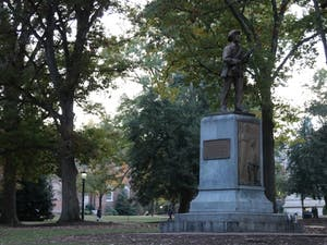 Silent Sam was located on McCorkle Place in Chapel Hill.