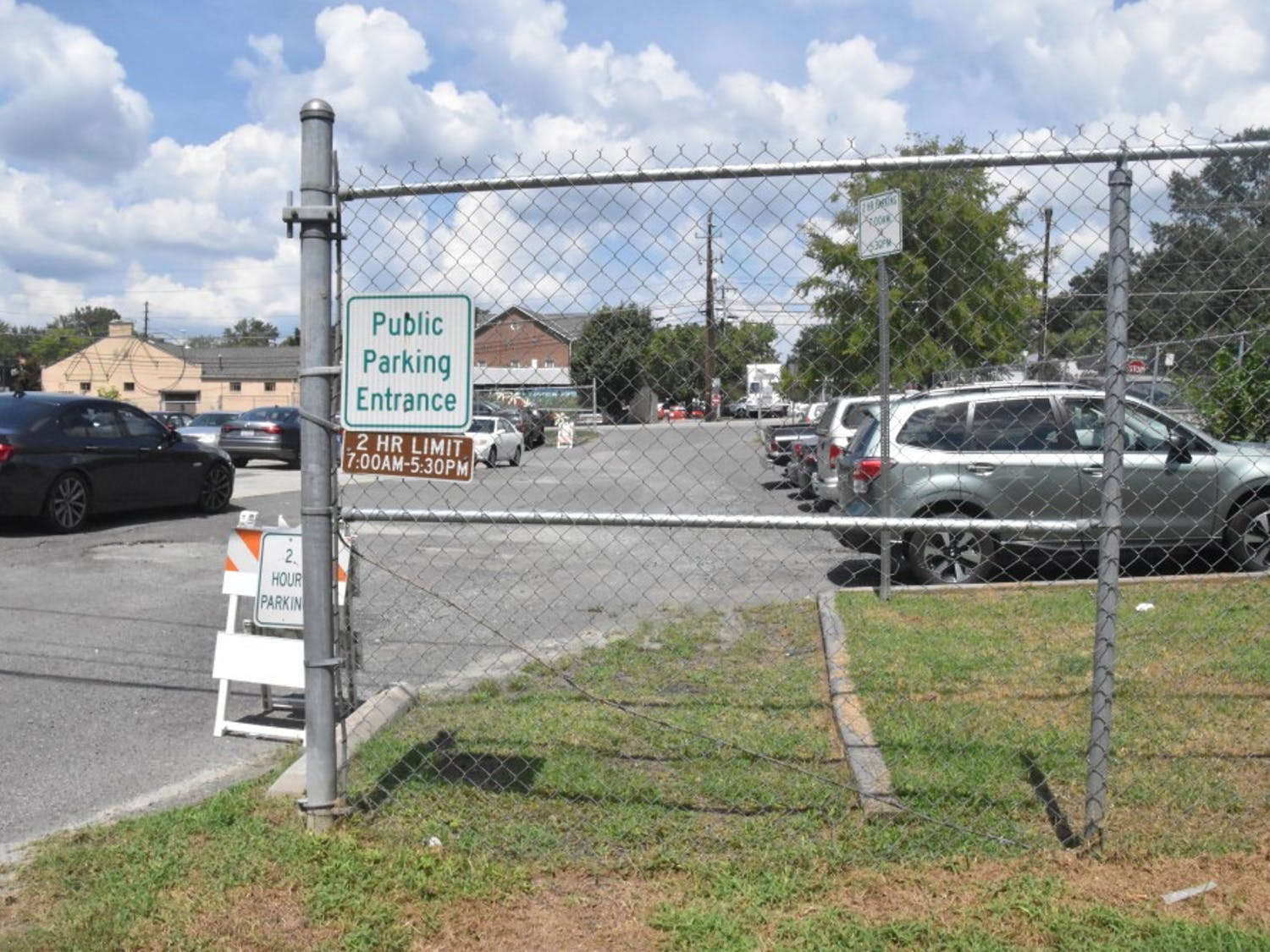 The lot at 203 Greensboro Street in Carrboro is preparing for developments.