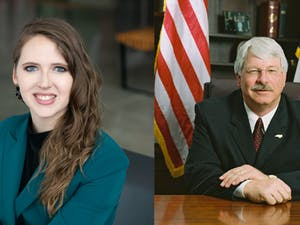 Democrat Jenna Wadsworth (left) and incumbent Republican Steve Troxler (right) are the candidates for N.C. Commissioner of Agriculture. Photos courtesy of Wadsworth and Troxler.