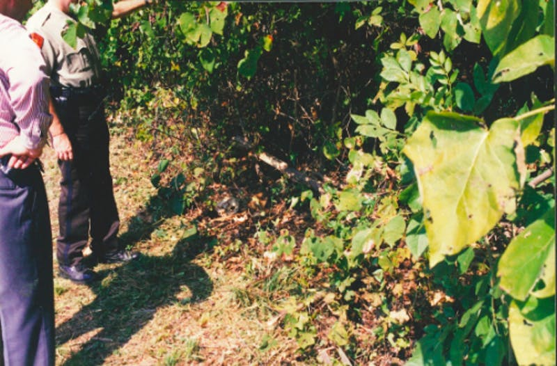 Evidence file photo from the original crime scene. Photo Courtesy of Tim Horne