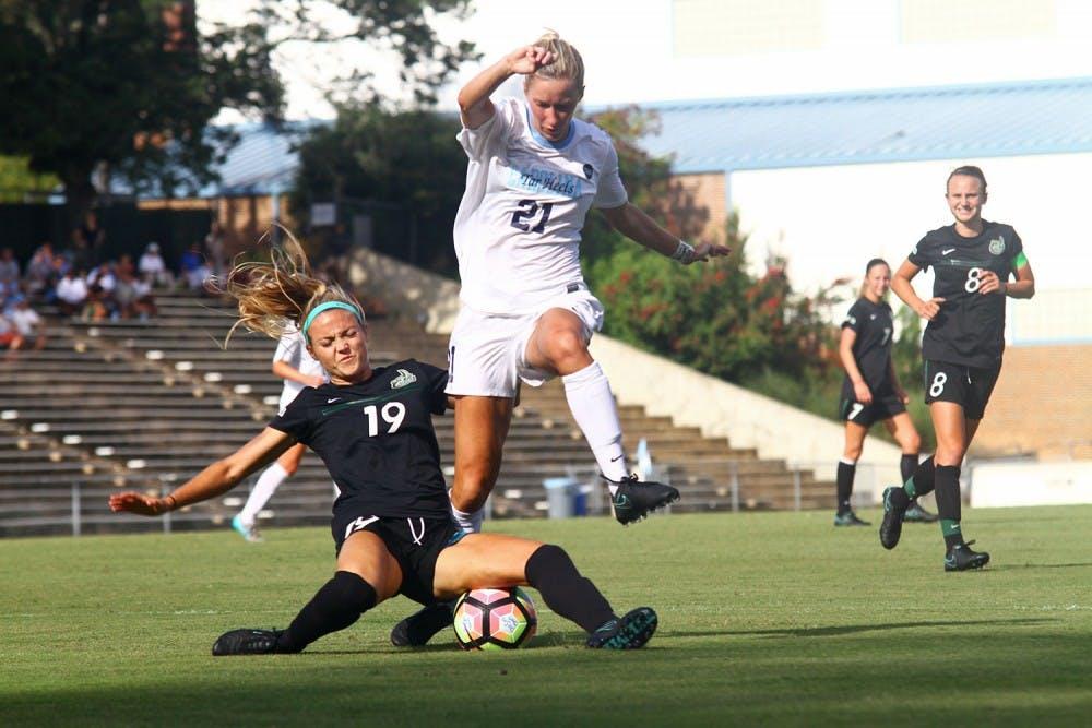 UNC women's soccer team beats UNC-Charlotte for second win