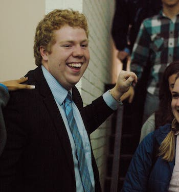Student Body President candidate Christy Lambden is happier now.