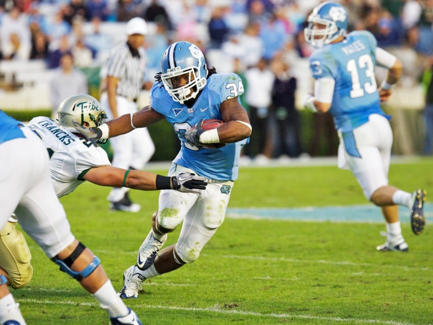 Johnny White led the Tar Heels comeback in the 4th quarter against William and Mary.