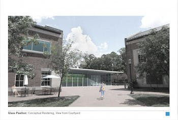 A rendering of possible changes to Chase Dining Hall by Szostak Design. Photo courtesy of Scott Myers.