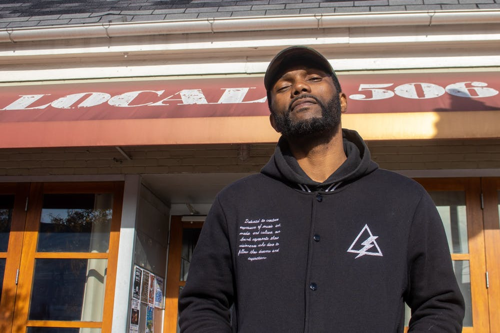 Kevin Thomas poses for a portrait in front of Local 506 in Chapel Hill, N.C. on Nov. 26, 2019.
