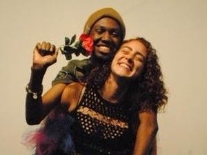 Actors Adam McDonald (left) and Giovanna Drummond, soon to take the stage in New York for a UNC student's play.