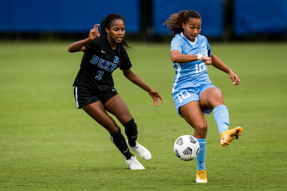 UNC women's soccer defeats Duke, 2-0, to stay undefeated