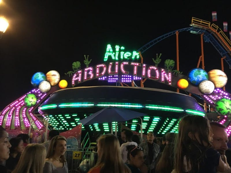 Alien Abduction is one of many attractions at the NC State Fair.