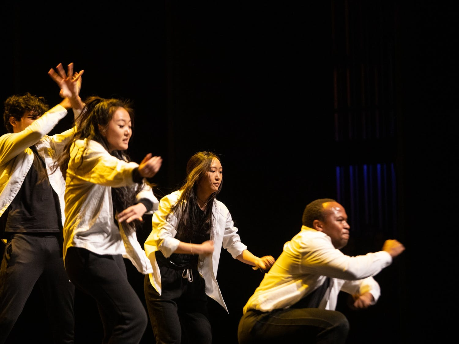 """Project Won presents their performance """"Re-presentation of Perception"""" at Journey Into Asia at Memorial Hall on Saturday, Feb. 29, 2020. Project Won hopes to """"challenge mainstream media's representation of South Korea"""" through urban dance."""