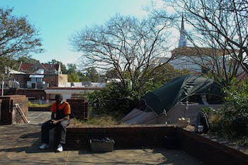 Since the pandemic started, the Chapel Hill Crisis Unit has been directing people who are homeless to stay day and night on the top of Wallace Parking Deck located on Rosemary Street.