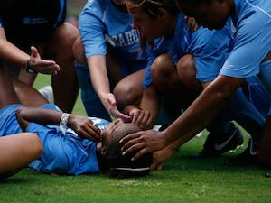 Nikki Washington is among four UNC women's soccer players who will be absent tonight versus Duke. DTH/Andrew Dye