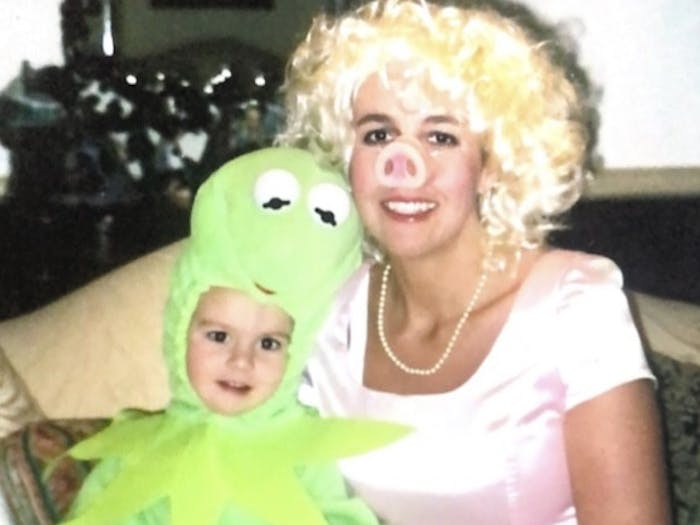 Assistant Photo Editor Ira Wilder and his mother, Renee Wilder, dress as Kermit the Frog and Miss Piggy, respectively, for Halloween in 2006. Photo courtesy of Jeff Wilder.