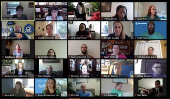 UNC's Employee Forum held a virtual meeting Wednesday, May 6, 2020 to address the logistics of remote work and conduct officer nominations for their upcoming election.