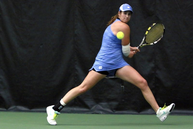 Sophomore Hayley Carter is second on the North Carolina women's tennis team in singles wins.