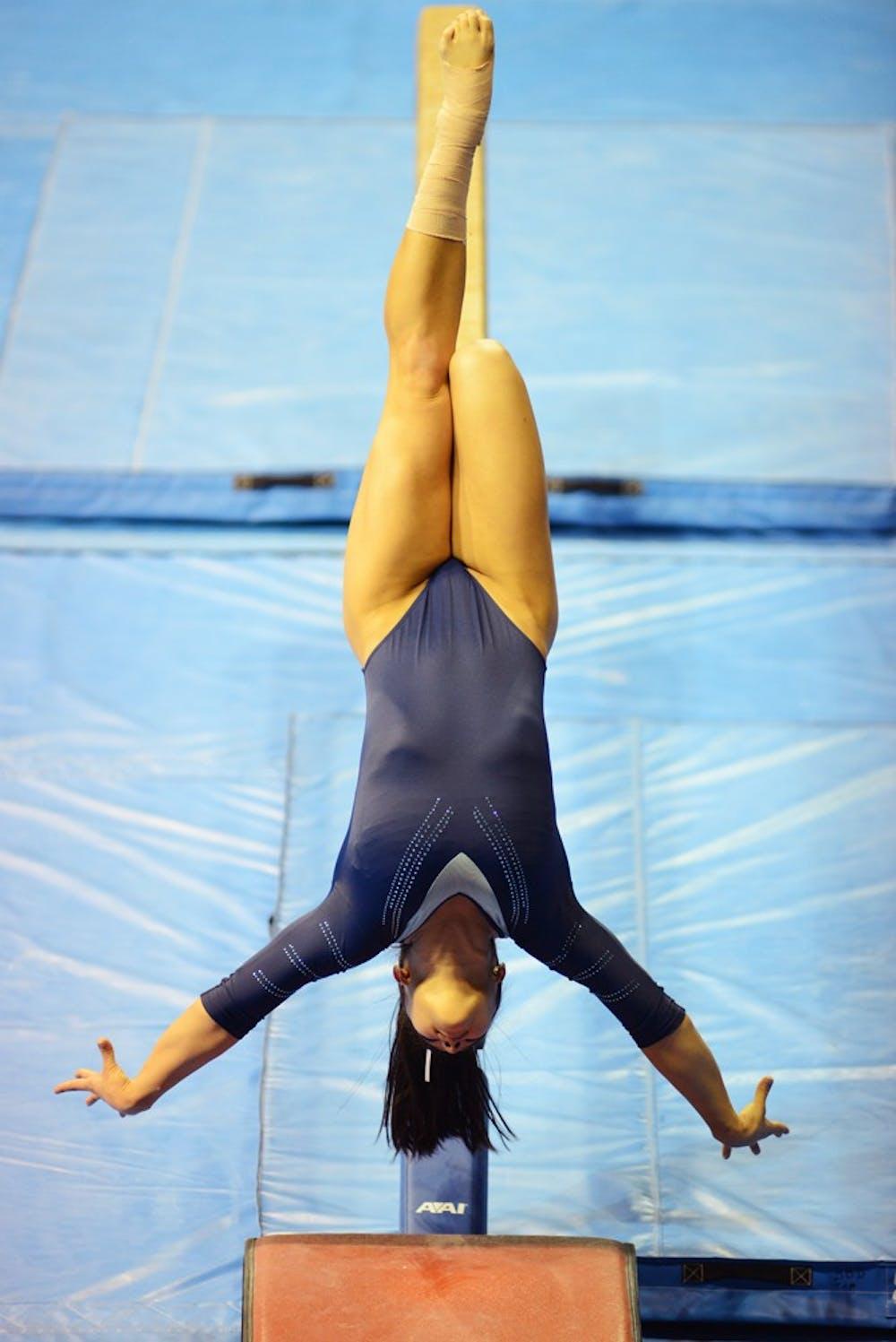 Gymnastics rebounds Saturday at home