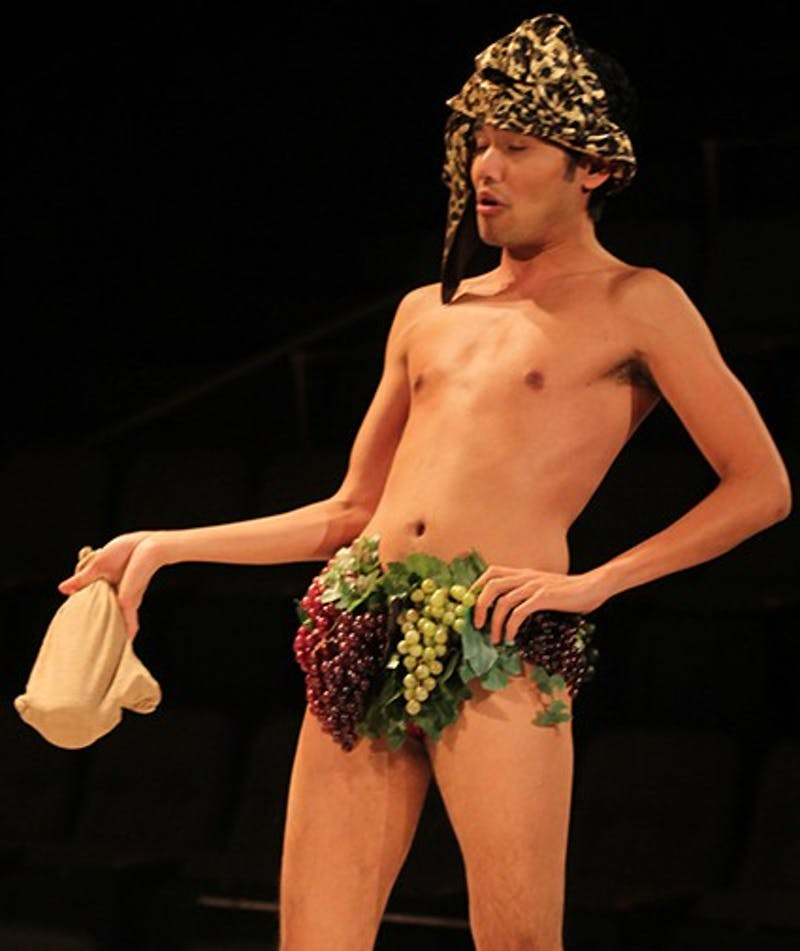 Nathaniel Claridad performs in Metamorphosis dress rehearsal October 31.