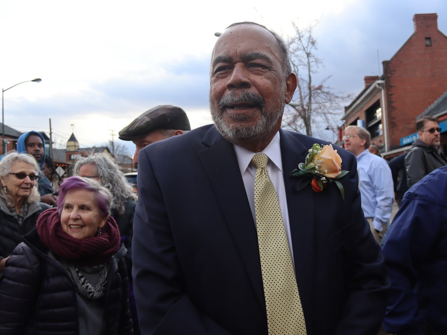 James Merritt is one of the four surviving members of the Chapel Hill Nine. He attended the group's marker dedication event on Friday, Feb. 28, 2020.